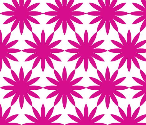 Starburst-Fuschia fabric by honey&fitz on Spoonflower - custom fabric