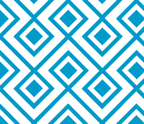 Connect the Blocks-Turquoise fabric by honey&fitz on Spoonflower - custom fabric