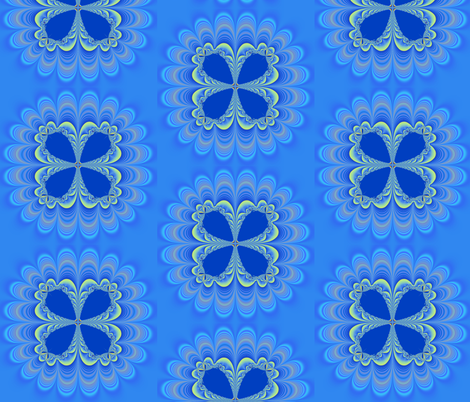 Petals in Blue fabric by dlhoward on Spoonflower - custom fabric