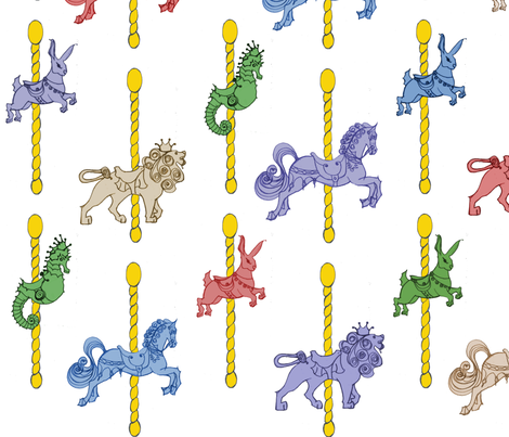 Carousel Fun Time fabric by sarahthomas on Spoonflower - custom fabric
