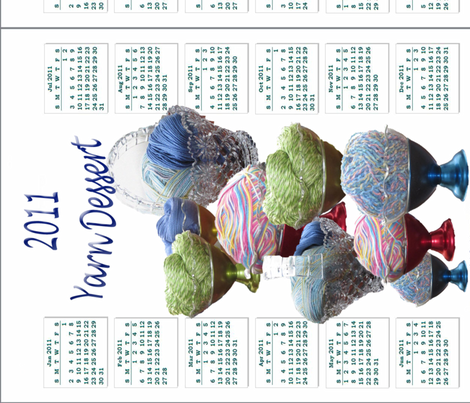 2011 yarn dessert calendar fabric by pondcourtcreations on Spoonflower - custom fabric