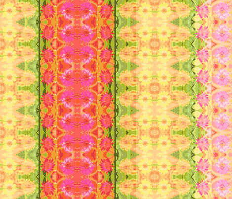 24 D_zinnia_border_6300x300_Picnik_collage-ch fabric by khowardquilts on Spoonflower - custom fabric