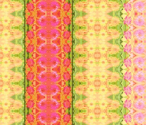 24 D_zinnia_border_6300x300_Picnik_collage-ch fabric by khowardquilts on Spoonflower - custom fabric