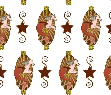 Carousel Seahorse By Evan & Kyla fabric by desertdame on Spoonflower - custom fabric