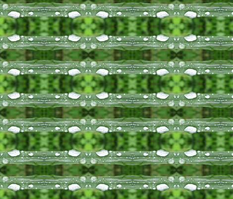 raindrops on grass fabric by ingridthecrafty on Spoonflower - custom fabric