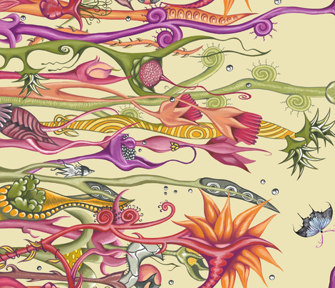 Day of the Triffids fabric by lisa_godfrey on Spoonflower - custom fabric