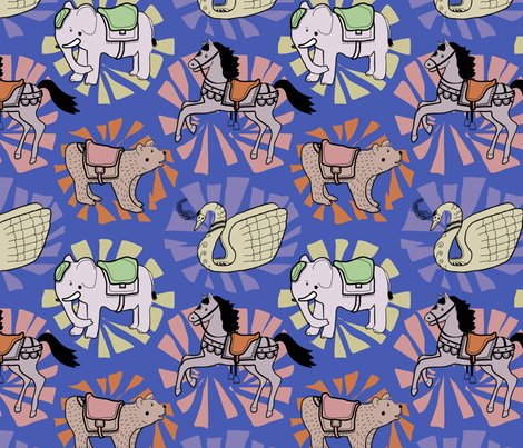 animals-go-round fabric by bellebo on Spoonflower - custom fabric