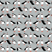 just puffins silver small