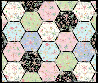 Snowflower Cheater Quilt