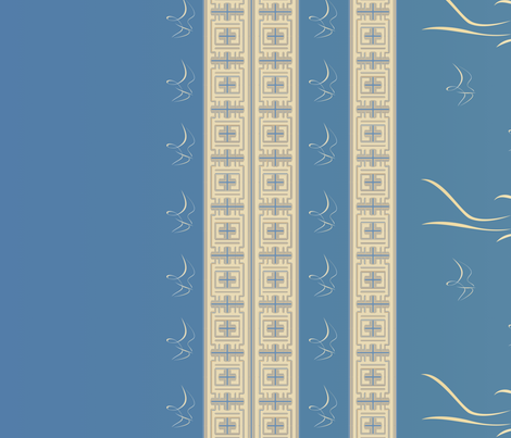 Prairie Girl Border Print Large © 2010 Gingezel Inc. fabric by gingezel on Spoonflower - custom fabric