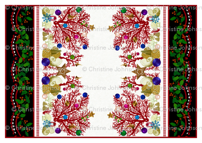 Red Coral Holiday / placemat