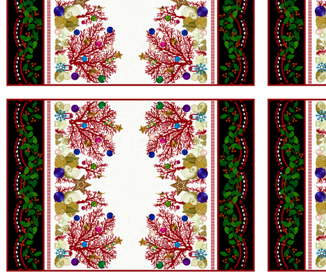 Red Coral Holiday / placemat fabric by paragonstudios on Spoonflower - custom fabric