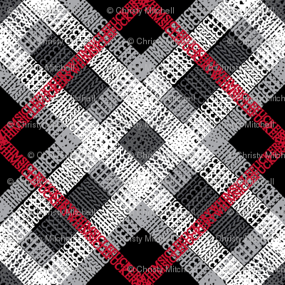 GoBaggery Whimsicle Tartan - Red/White/Black