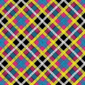 GoBaggery Whimsicle Tartan - Pink/Yellow/Blue/White/Black