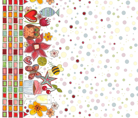 scrummylicious border II fabric by scrummy on Spoonflower - custom fabric