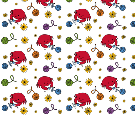 knit crabfabulous fabric by lovelyarns on Spoonflower - custom fabric