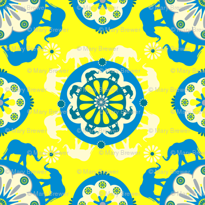 Elephants Yellow