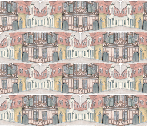 Danish_Village (Copenhagen) fabric by cmerdian on Spoonflower - custom fabric
