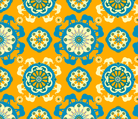 Elephant Orange fabric by royalforest on Spoonflower - custom fabric