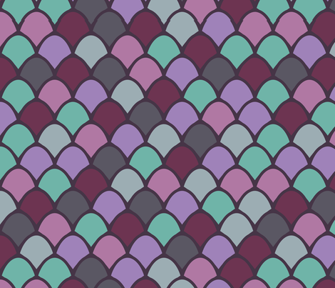 Mermaid Scales fabric by janelle_wooten on Spoonflower - custom fabric