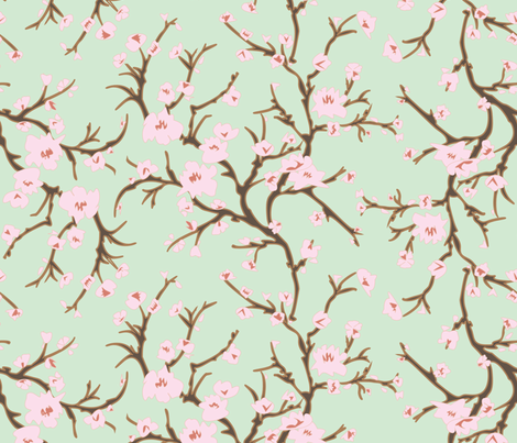 Almond Branch and Blossom fabric by janelle_wooten on Spoonflower - custom fabric