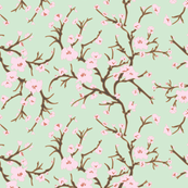 Almond Branch and Blossom