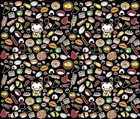 SUSHI_ICONS fabric by samtronika on Spoonflower - custom fabric