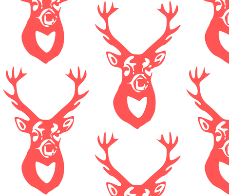 Deer fabric by efolsen on Spoonflower - custom fabric
