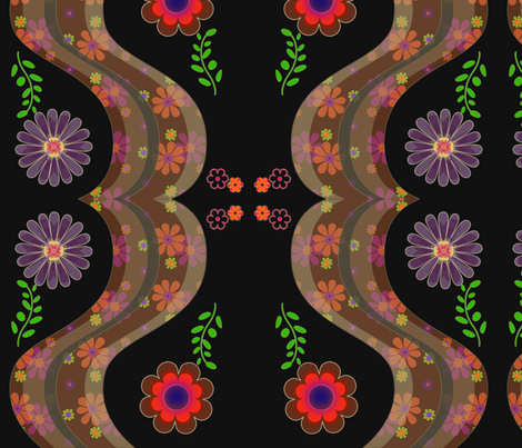 flowery_rainbow fabric by snork on Spoonflower - custom fabric