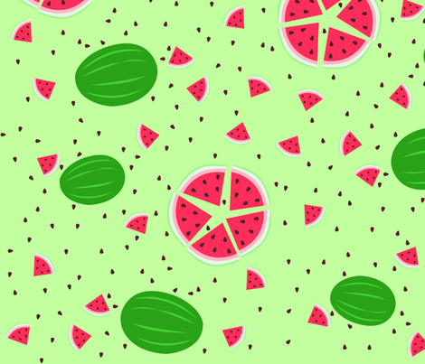 watermelon fabric by rose'n'thorn on Spoonflower - custom fabric