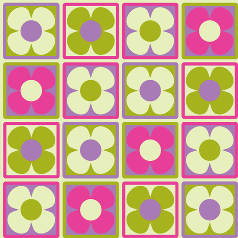 Flower_Tile_lilac fabric by aliceapple on Spoonflower - custom fabric