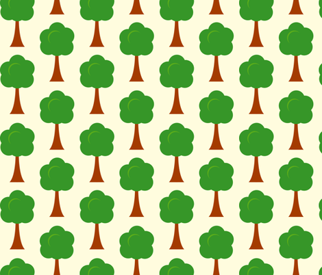 Swedish trees fabric by kaddy_w on Spoonflower - custom fabric