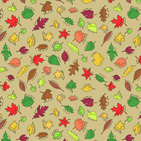happy autumn, sandy beach fabric by weavingmajor on Spoonflower - custom fabric