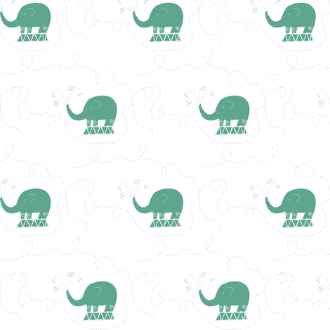 Elephant Spray fabric by oliveleaf on Spoonflower - custom fabric