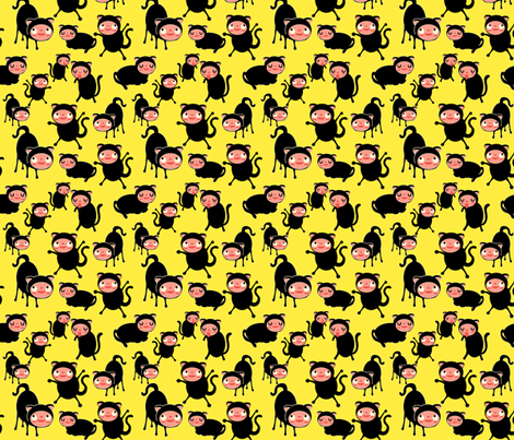 cats fabric by heidikenney on Spoonflower - custom fabric