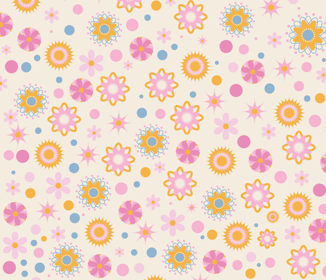 Funky Flowers  fabric by bella_modiste on Spoonflower - custom fabric