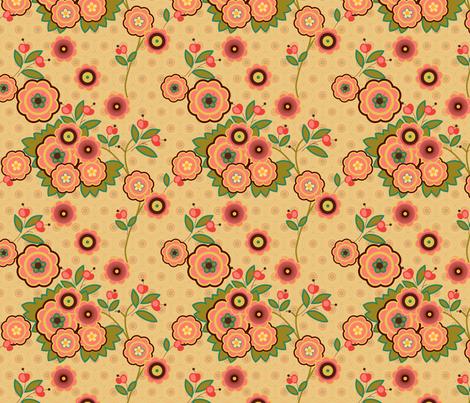 vintage floral beige fabric by fiona_mcdonald_juicyapple on Spoonflower - custom fabric