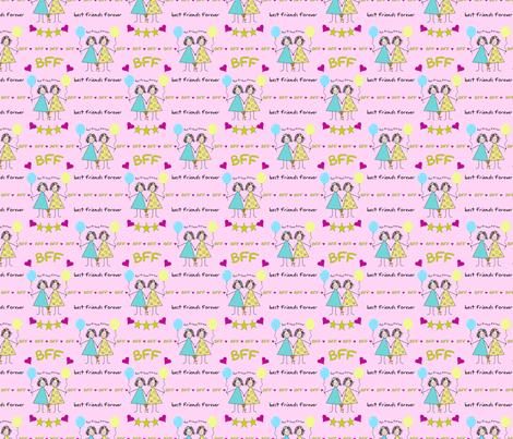BFF Stickies fabric by debbiek on Spoonflower - custom fabric