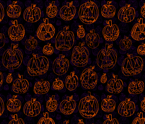 Punkinz4 fabric by visualbacon on Spoonflower - custom fabric