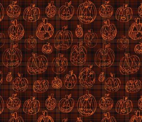 PunkinzPlaid fabric by visualbacon on Spoonflower - custom fabric
