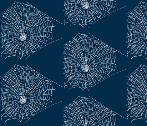 Spider's Web fabric by blue_jacaranda on Spoonflower - custom fabric