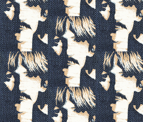 Rock'in denim fabric by paragonstudios on Spoonflower - custom fabric