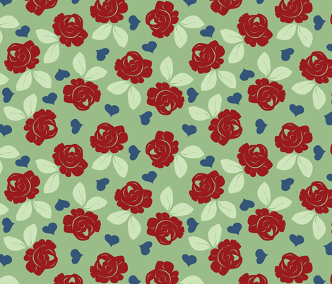 roses fabric by shiny on Spoonflower - custom fabric