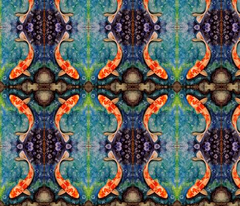 KoiandRocks fabric by indigojess on Spoonflower - custom fabric