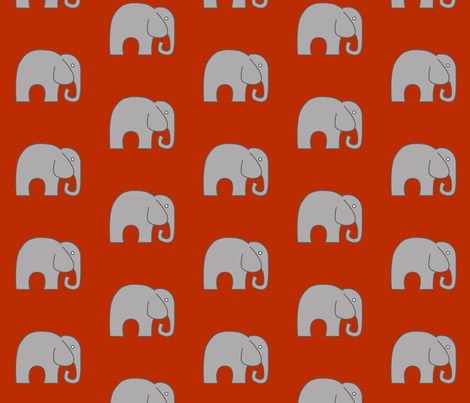 Orange Elephant fabric by nuuk on Spoonflower - custom fabric