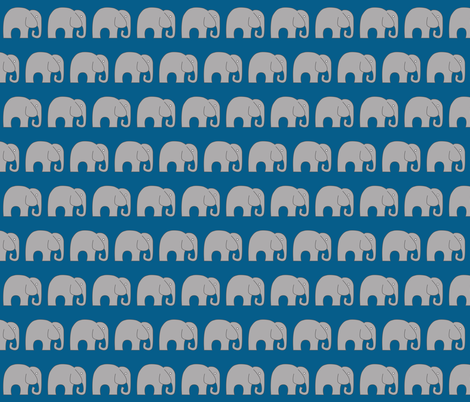 Blue Elephant fabric by nuuk on Spoonflower - custom fabric