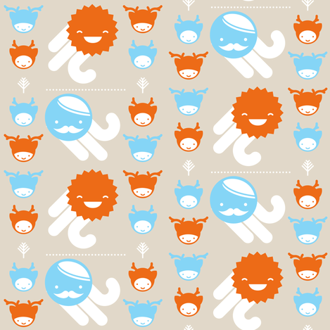 The Cute Outdoors fabric by tinornament on Spoonflower - custom fabric