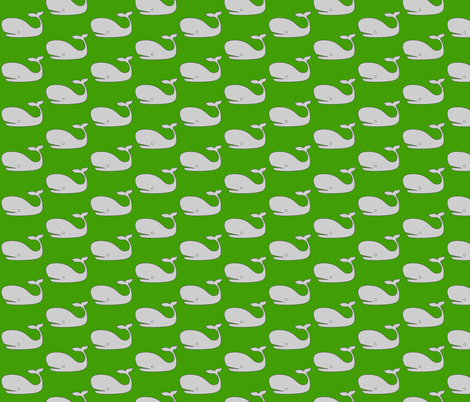 Green Whale fabric by nuuk on Spoonflower - custom fabric