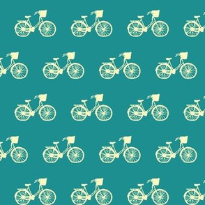 Vintage Bicycle on Turquoise