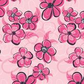 Fuschia Floral